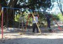 Zeladoria trabalha na revitalização do parquinho da Praça Tamandaré